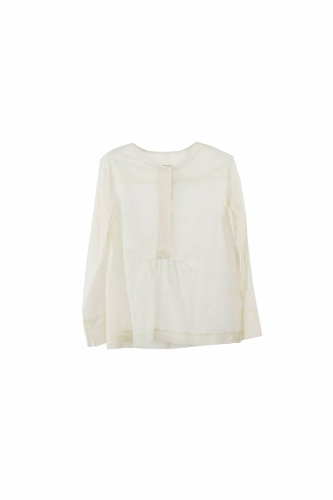 Pomandère embroidered top creme
