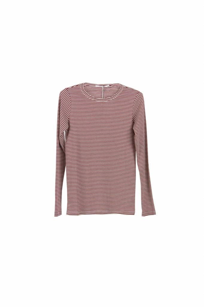 Pomandère striped t-shirt red