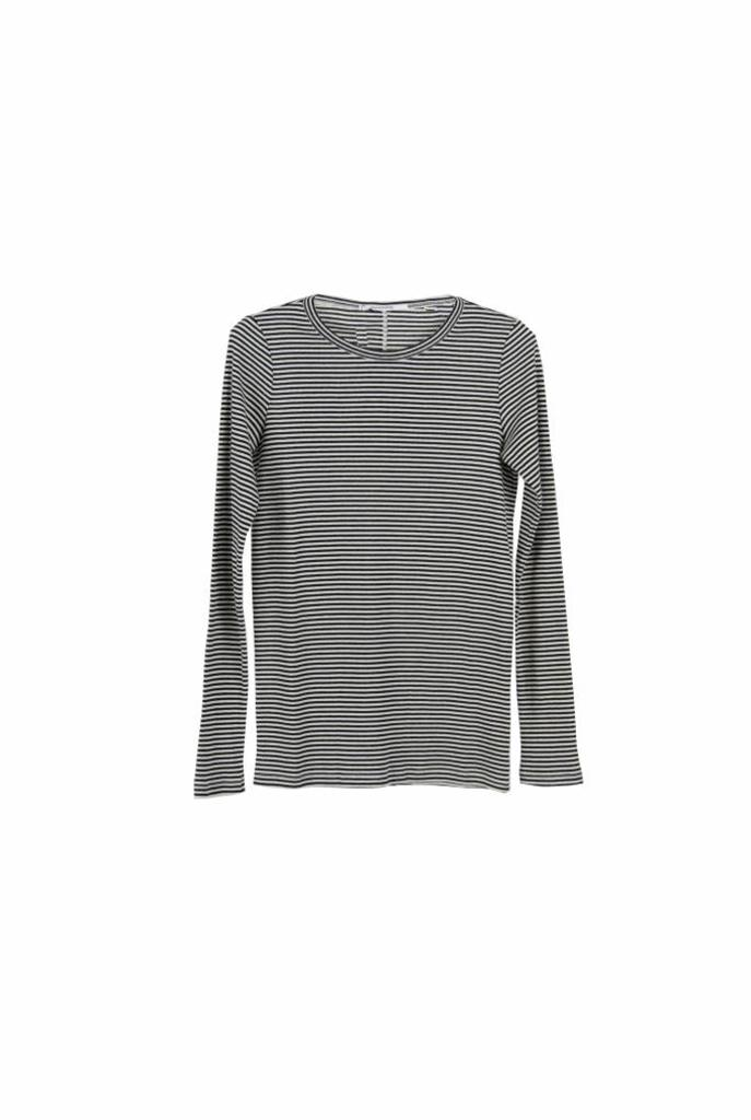 striped t-shirt black