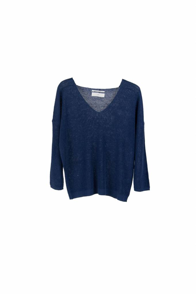 Pomandère linen sweater blue