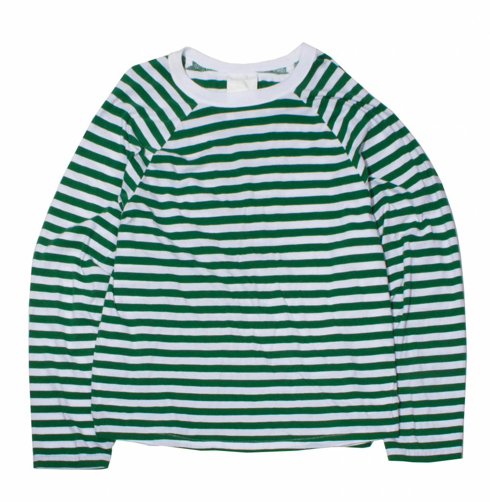 Stand Aloné raglan long sleeve t-shirt green white stripe