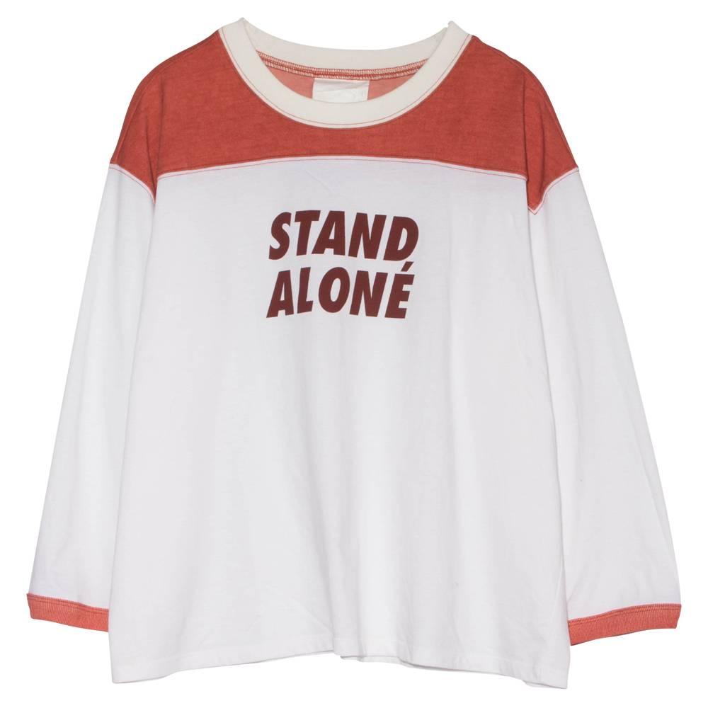 Stand Aloné raglan t-shirt white orange Stand Alone