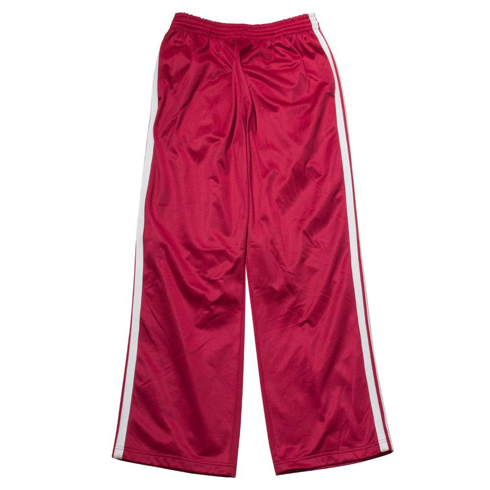 Stand Aloné wide red track pants white stripes