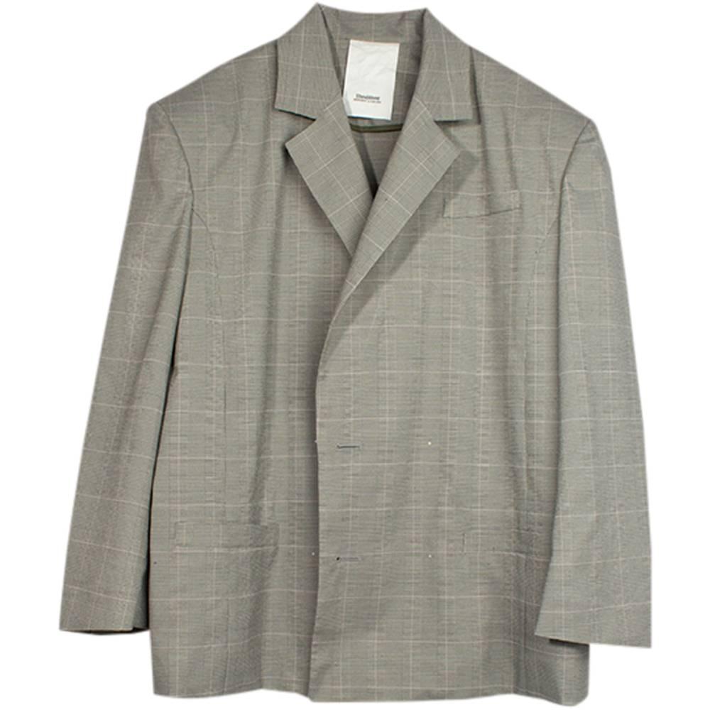 Stand Aloné Blazer jacket long slit grey check