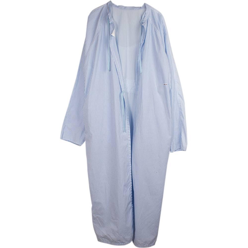 Stand Aloné Cotton long dress blue white stripe
