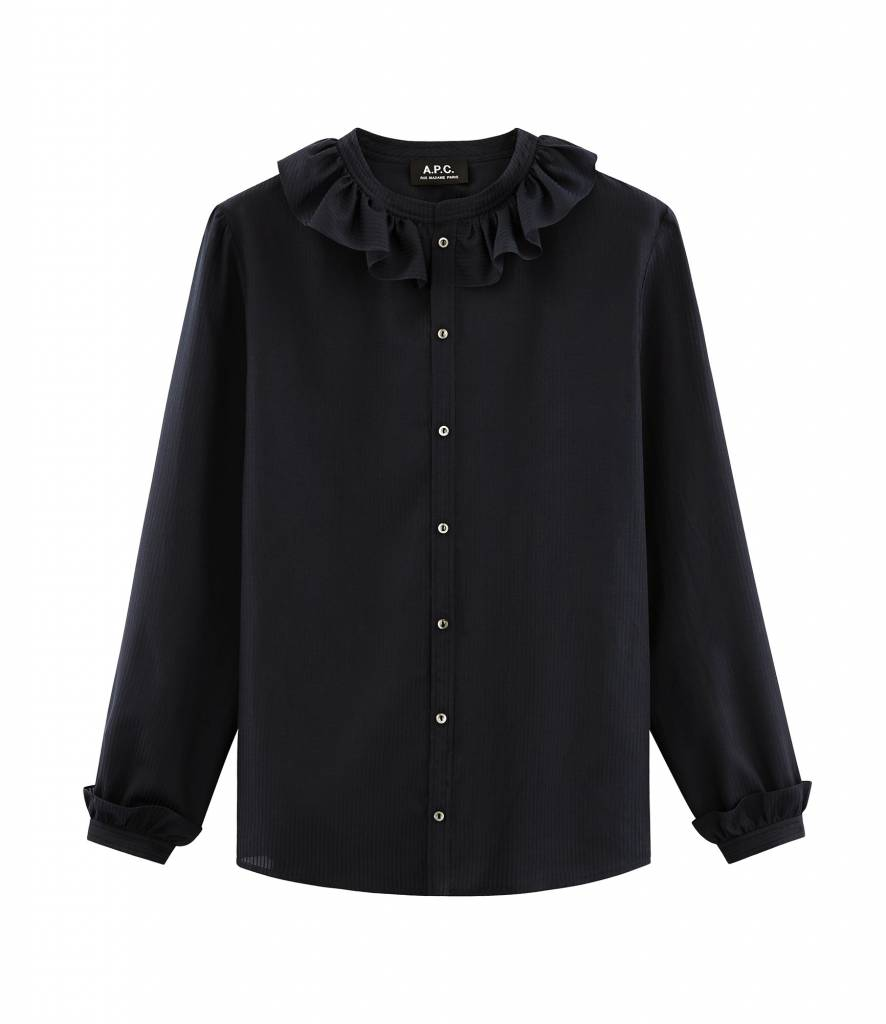 A.P.C. Josephine blouse dark navy