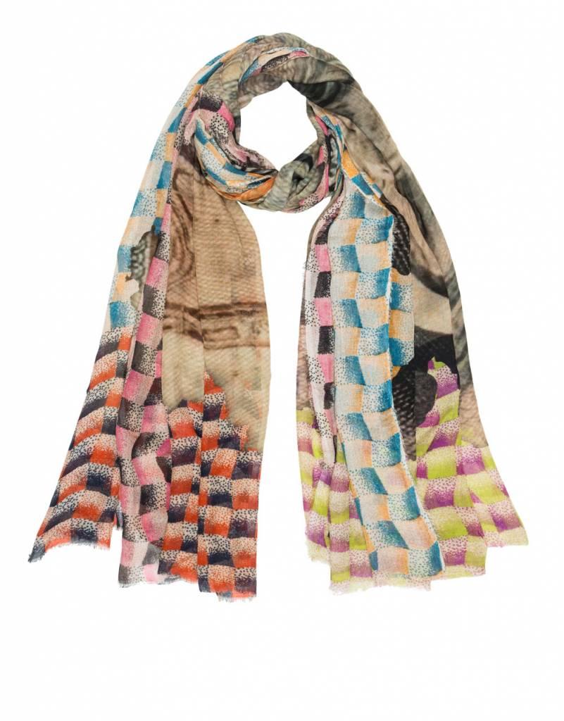 Faliero Sarti Lira scarf multi colour billet