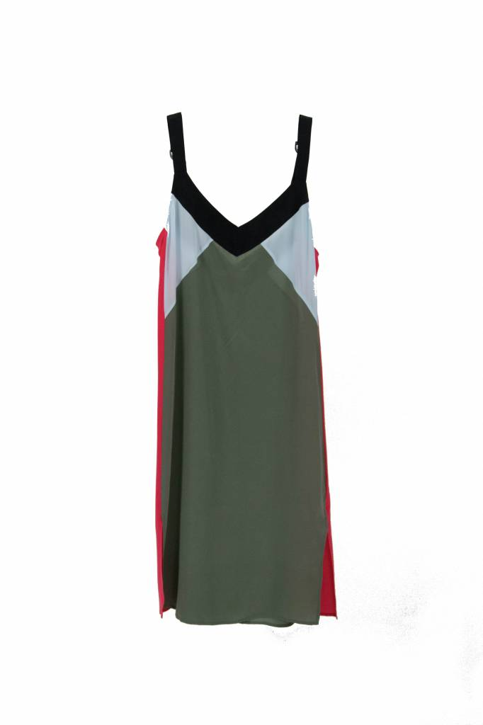 Equipment Robbi slip dress camouflage