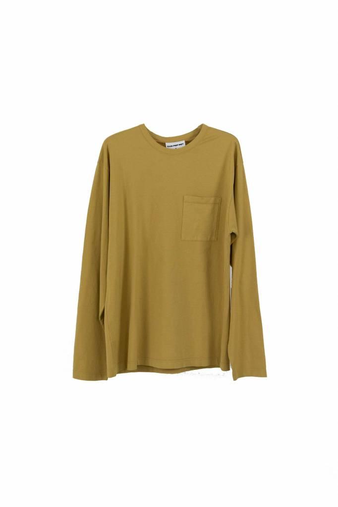 Can Pep Rey unisex pocket t-shirt L/S honey mustard