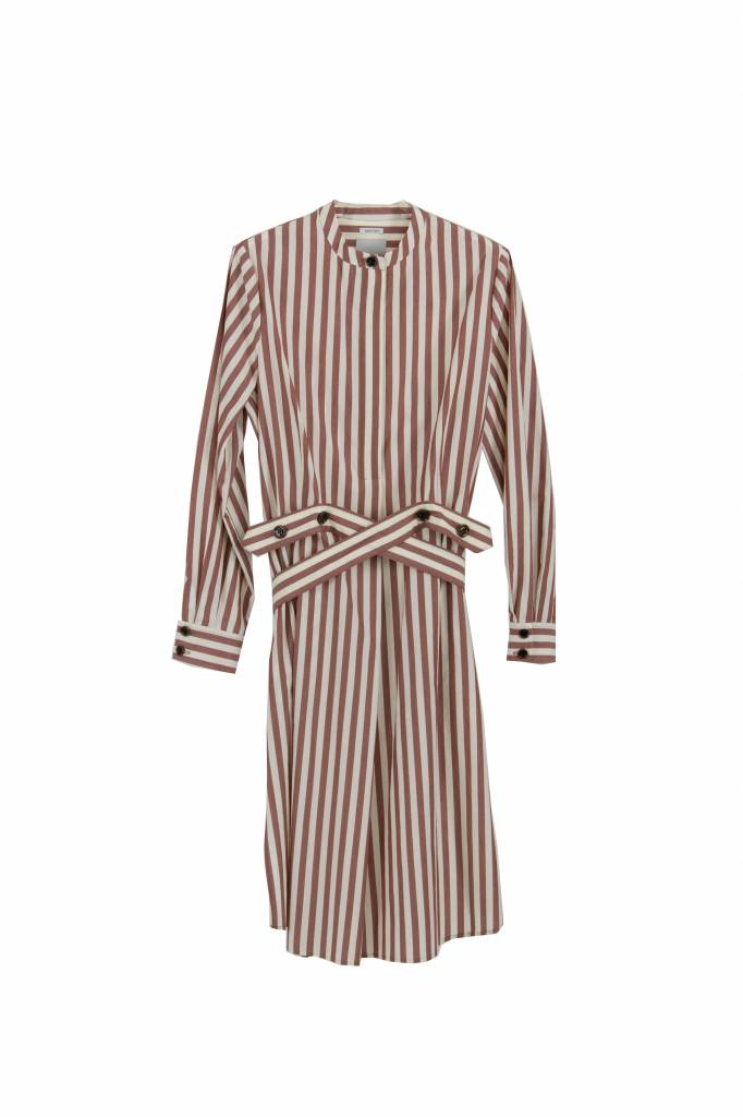 Rue Blanche Grand liseron dress rose stripe