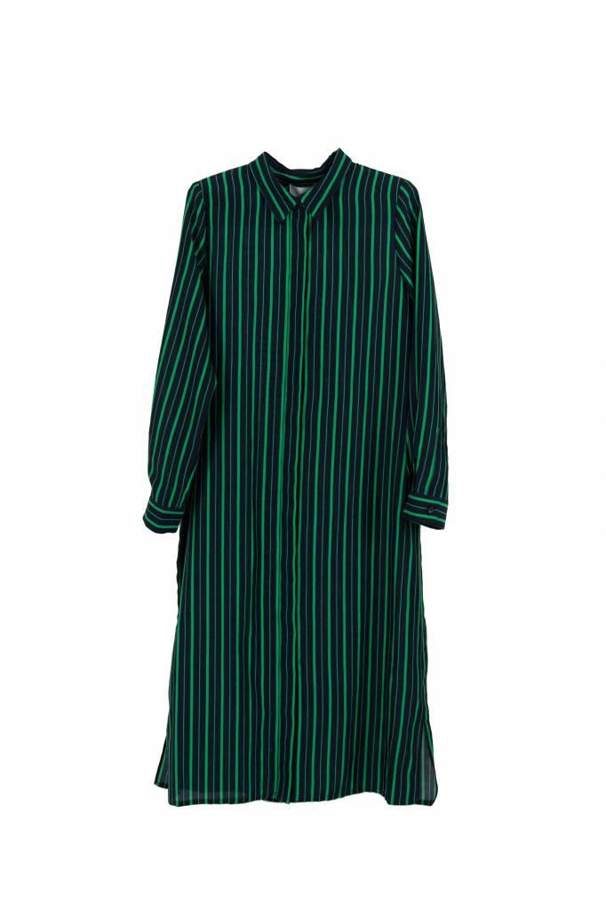 Kokoon Caron long shirt green stripe