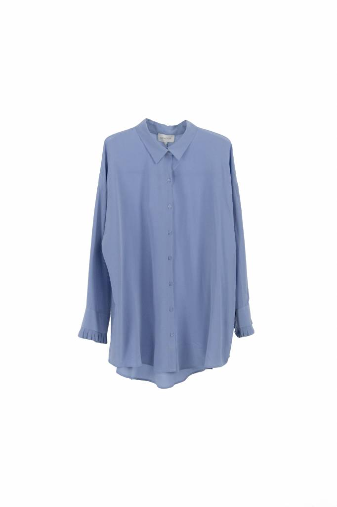 Kokoon Bianca pleat shirt lavender blue