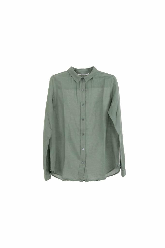 Pomandère blouse eucalyptus linen
