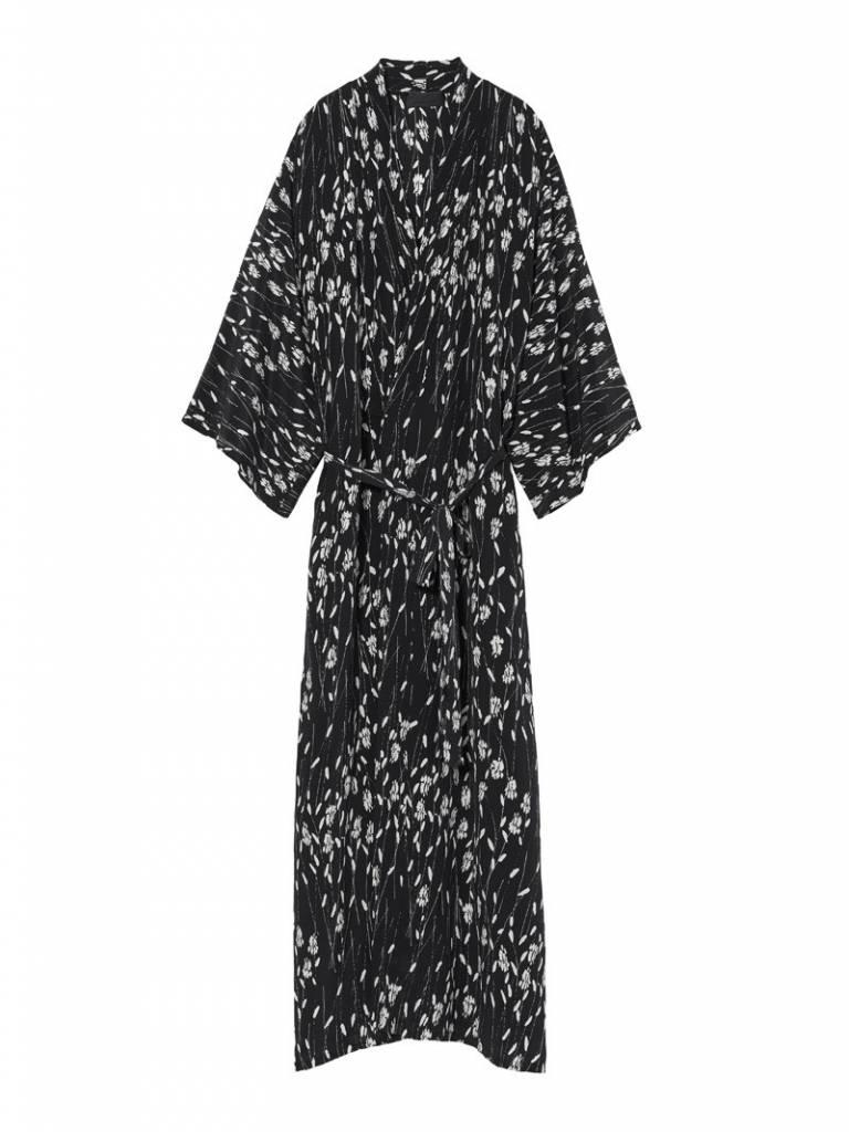 Nili Lotan Rey kimono dress black