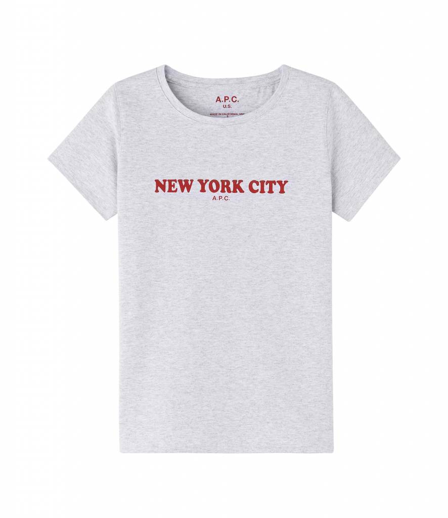 A.P.C. New York t-shirt grey melee