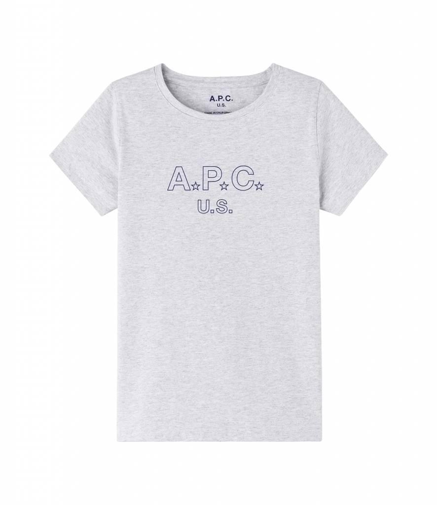 US star t-shirt grey melee