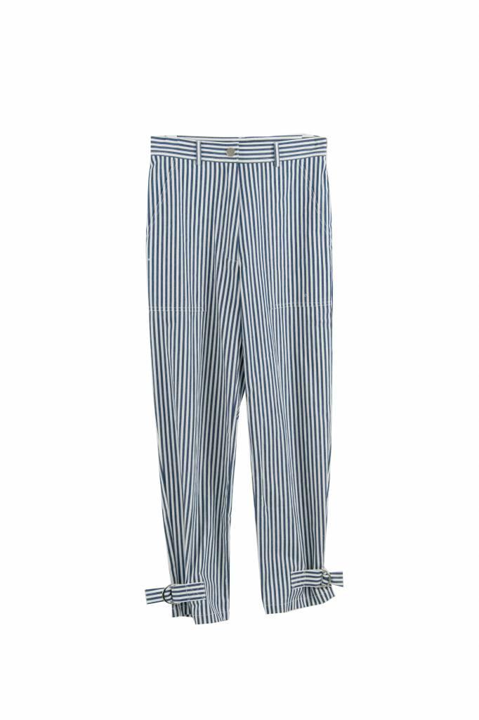 Vanessa Bruno Iberica pantalon white blue straps