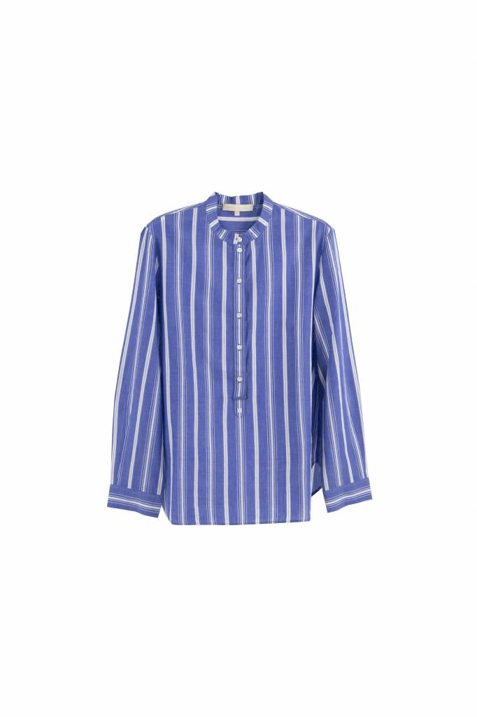 Vanessa Bruno Ilea blouse blue white stripe