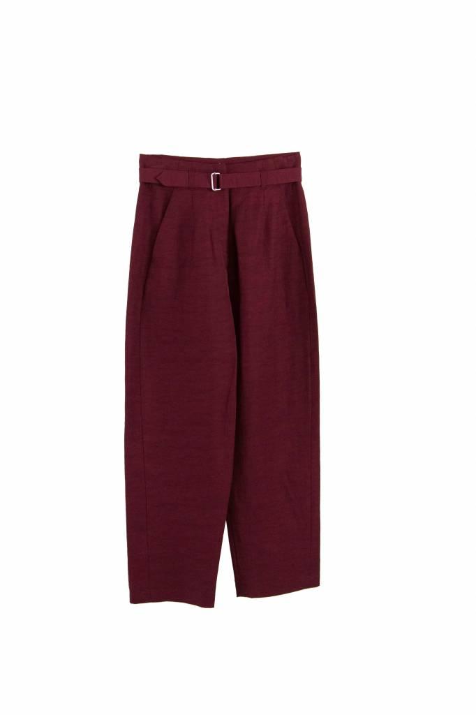 Rue Blanche Renoncule pantalon bordeaux red