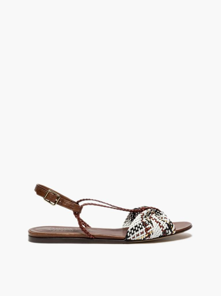 Michel Vivien Gaby sandals white red black