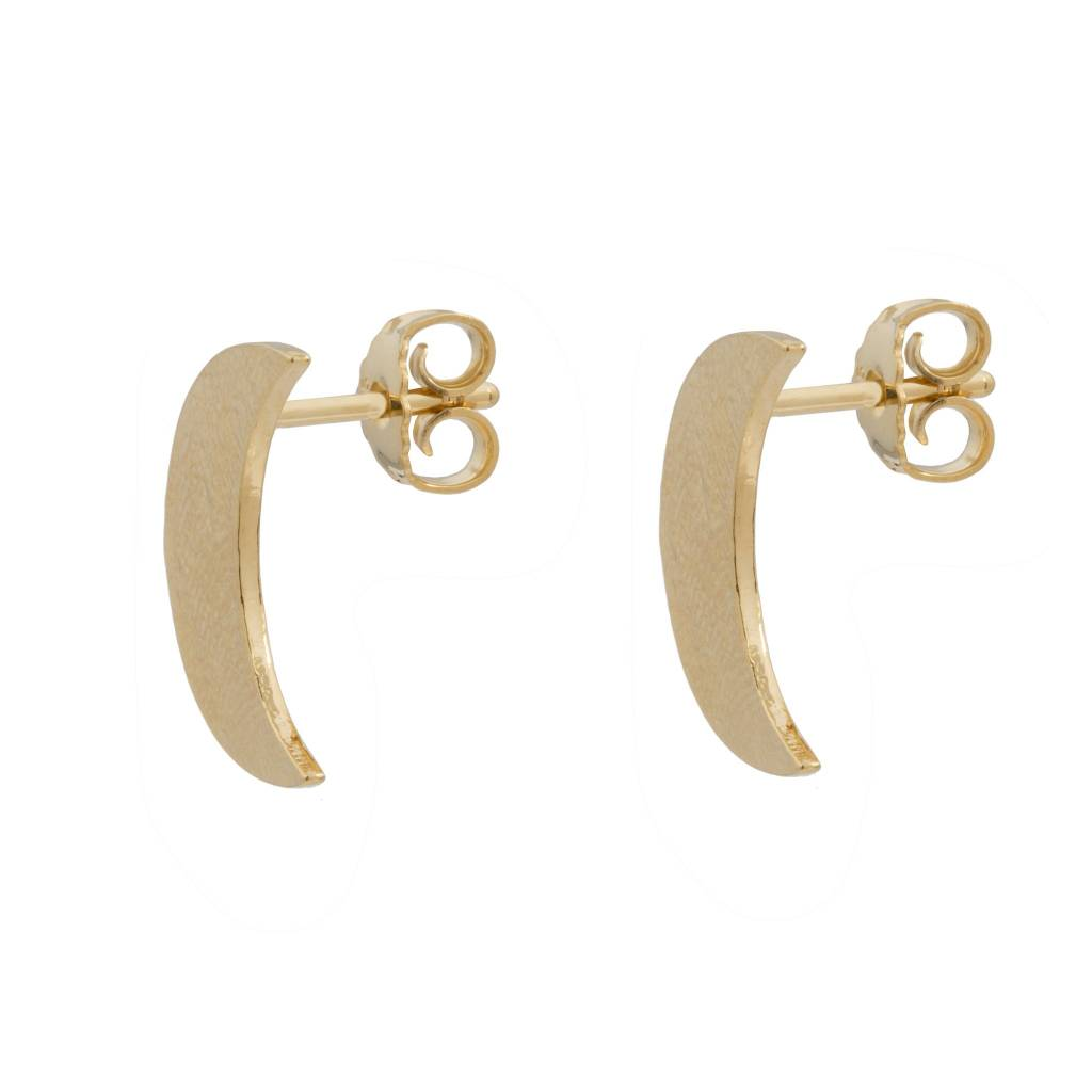 Wouters & Hendrix Stud earrings with hammered moons