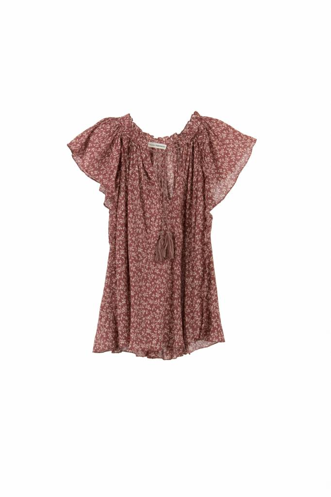 Ulla Johnson Sigrid top clay print