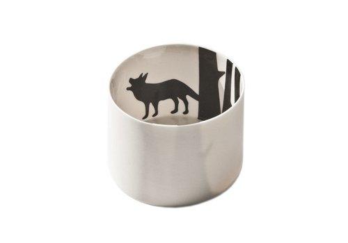 Wolf theelichthouder