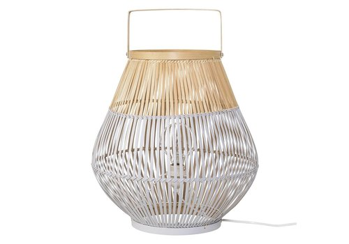 Bloomingville Vloerlamp bamboe, naturel/grijs