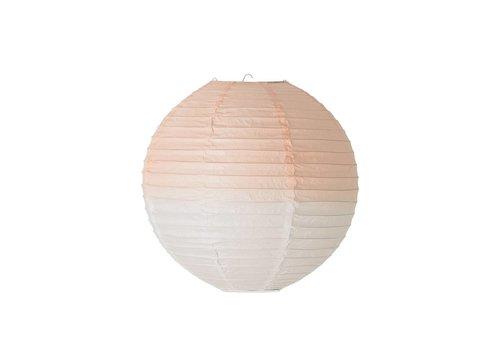 Bloomingville Papieren lampenkap dip dye wit/roze 35 cm