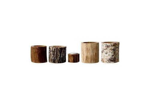 Bloomingville Theelichthouders hout