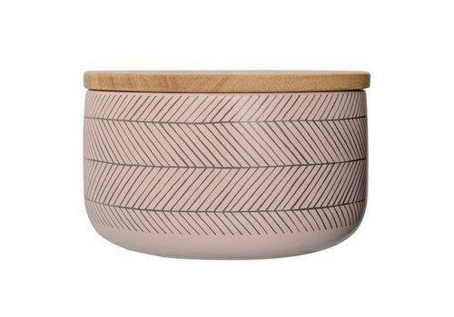 Bloomingville Soul jar voorraadpot met bamboe deksel  L