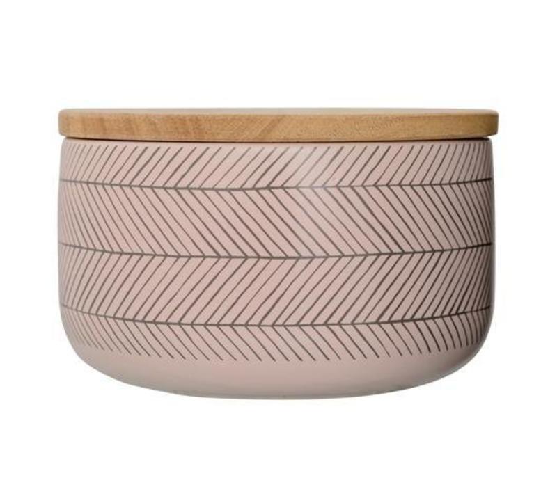 Soul jar voorraadpot met bamboe deksel  L
