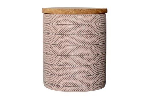 Bloomingville Soul jar voorraadpot met bamboe deksel  S