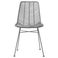 Lena rotan stoel grijs
