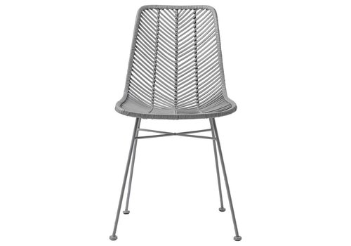 Bloomingville Lena rotan stoel grijs