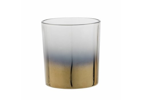 Bloomingville Theelichthouder glas, goud