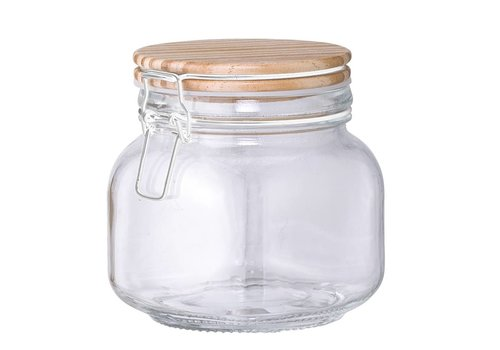 Bloomingville Glazen voorraadpot met deksel 11xh12,5cm