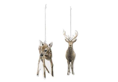 Bloomingville Porseleinen hangers hert - set van 2