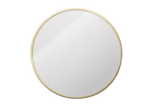 Bloomingville Ronde spiegel met goudkleurige rand