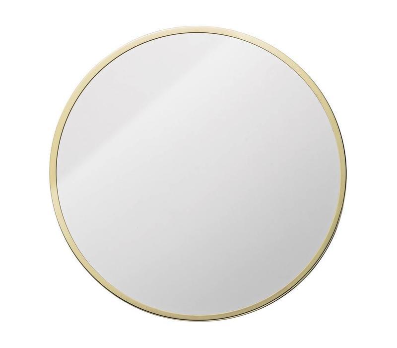 Ronde spiegel met goudkleurige rand