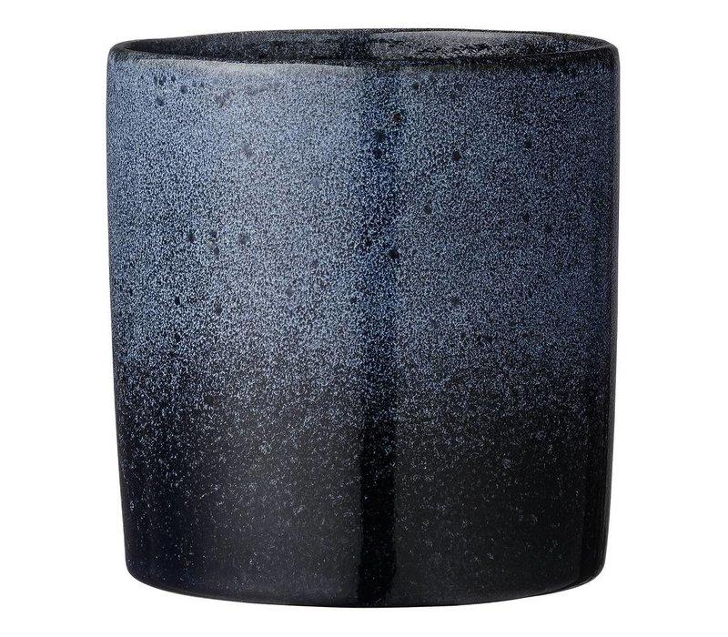 navy bloempot - porcelain