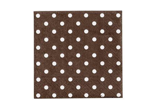 Bloomingville Papier servetten - bruin