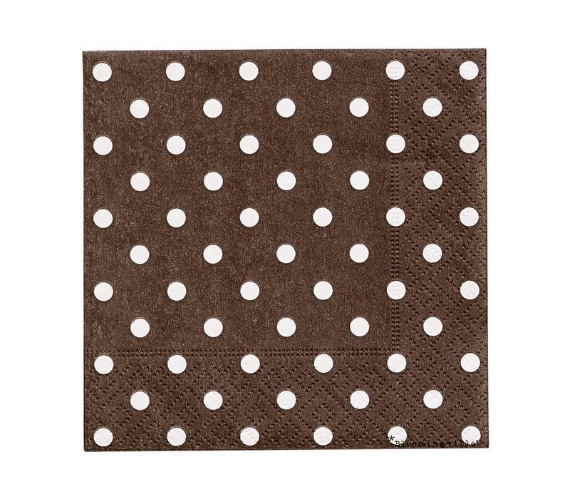 Papier servetten - bruin