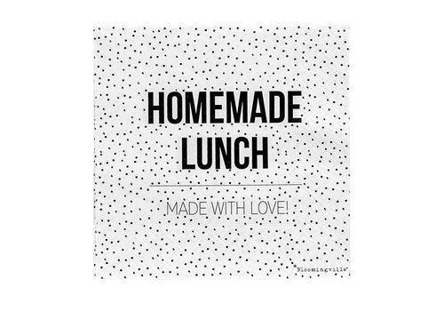 Bloomingville Papieren servetten - 'homemade lunch'
