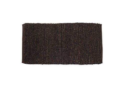 Bloomingville Tapijt wol bruin 120x60 cm