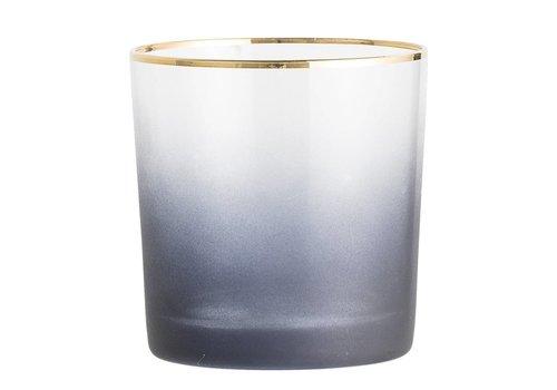 Bloomingville Theelichthouder, grijs, glas