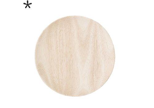 Bloomingville Houten dessertbord rubberwood