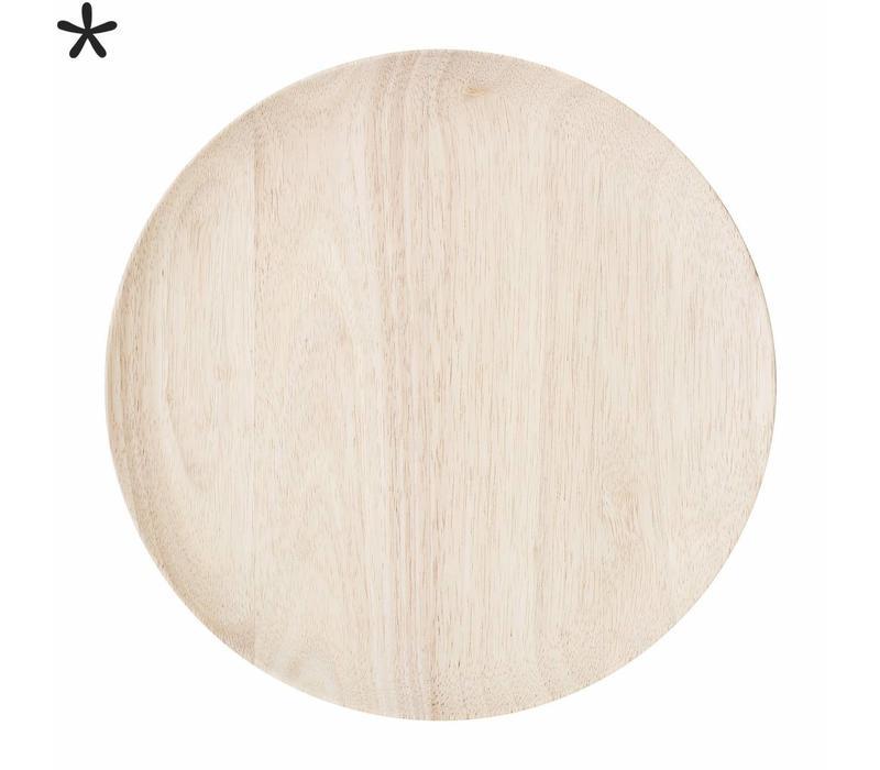 Houten onderzetbord rubberwood
