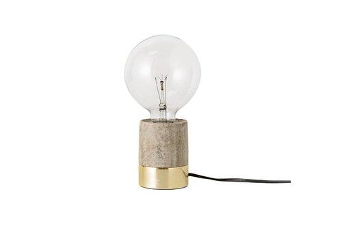 Bloomingville Tafellamp beige marmer/goudkleur