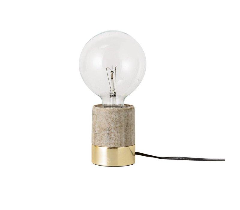 Tafellamp beige marmer/goudkleur